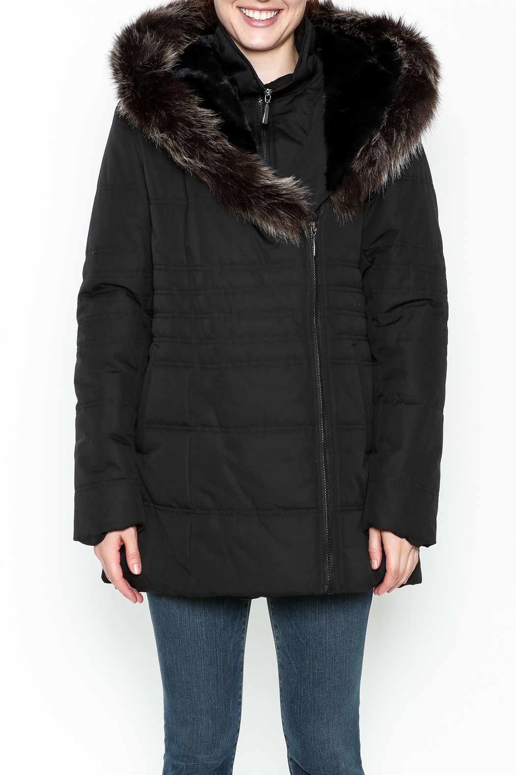 Capital Garment Quilted Coat - Front Full Image
