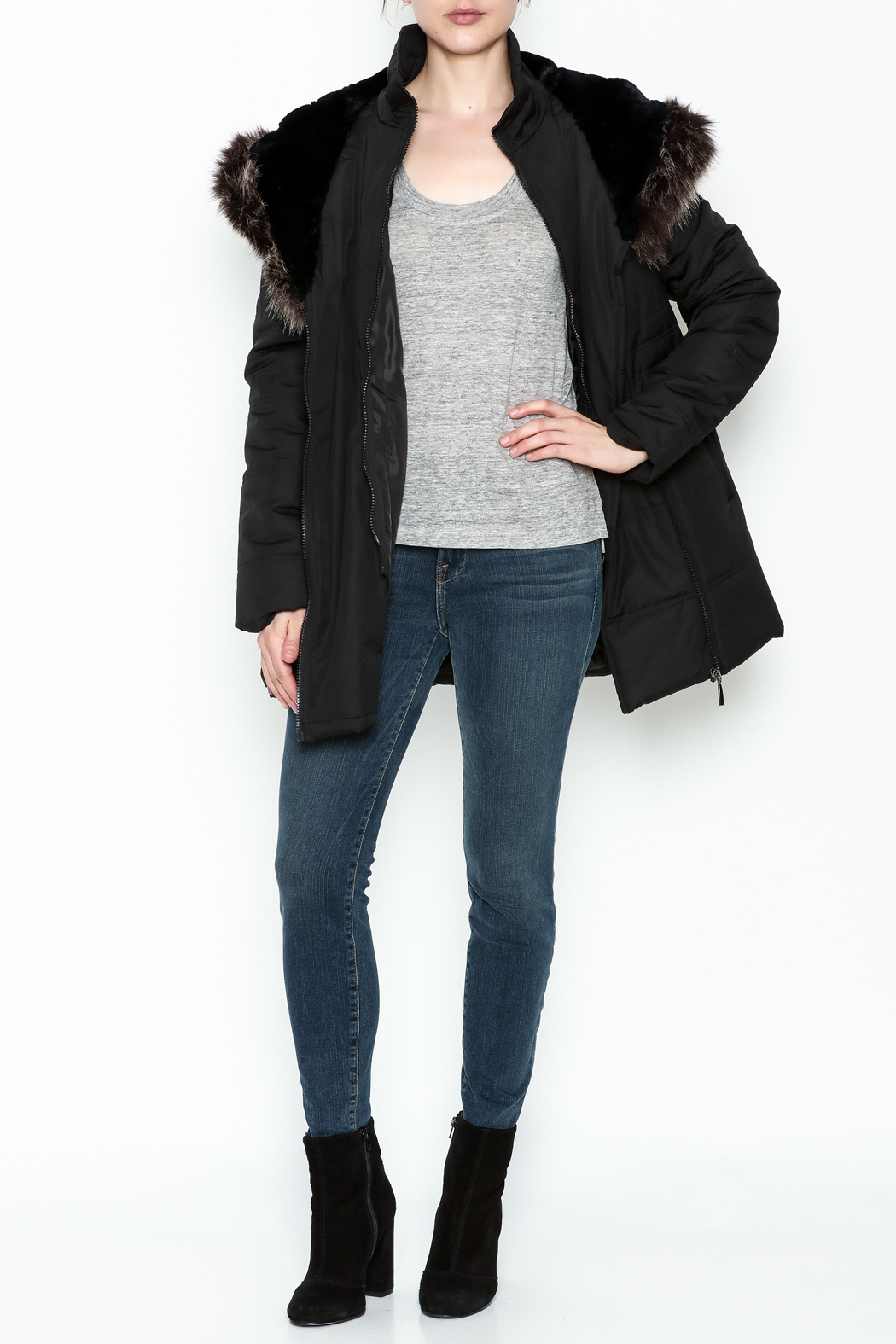 Capital Garment Quilted Coat - Side Cropped Image
