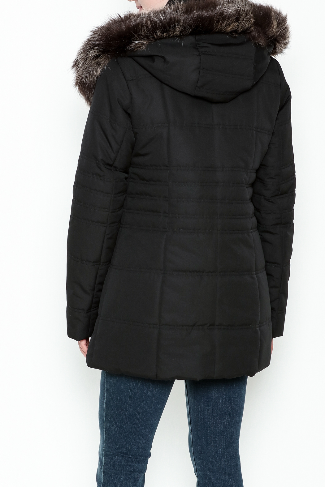Capital Garment Quilted Coat - Back Cropped Image