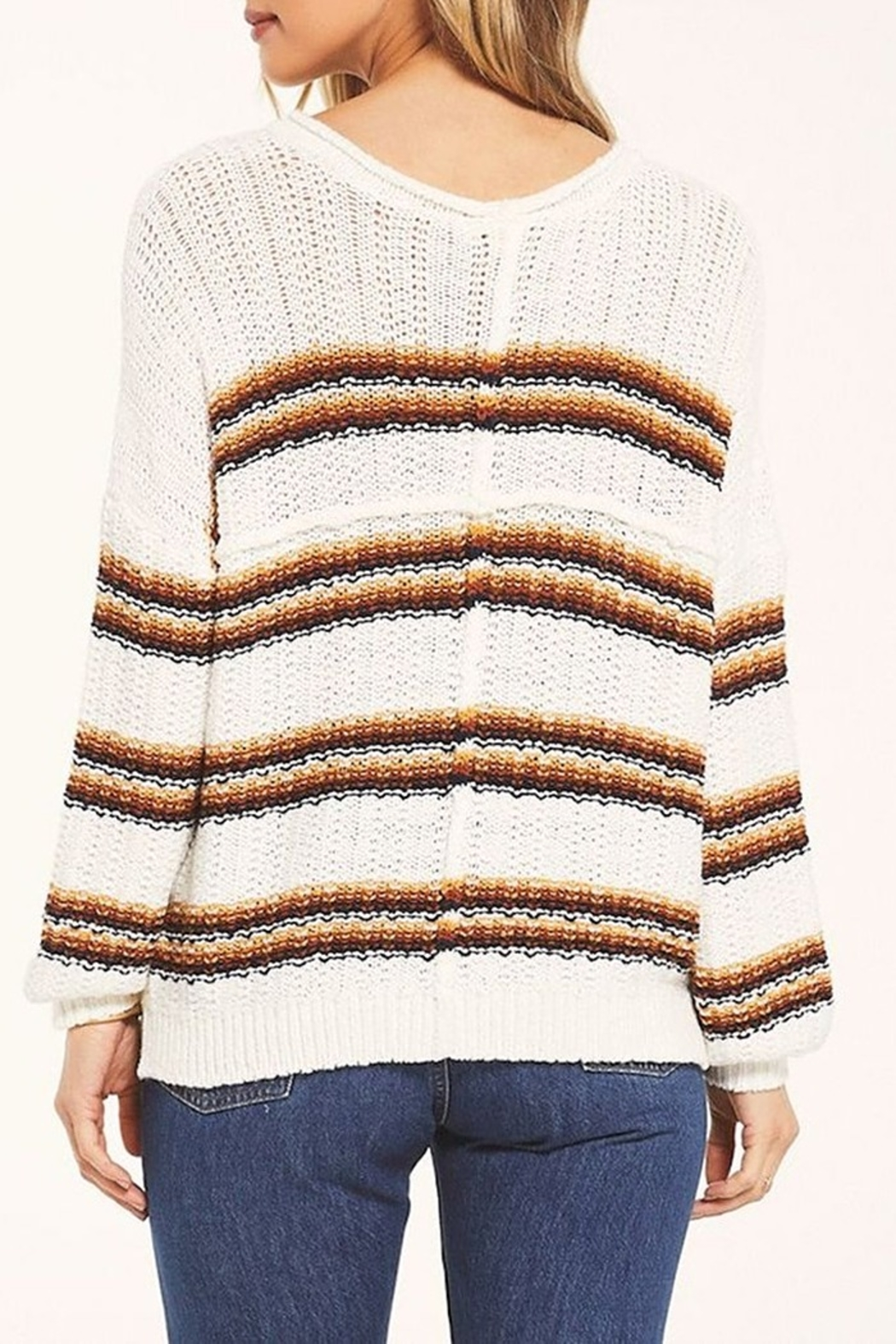 White Crow  Capitan Roll-Knit Sweater - Front Full Image