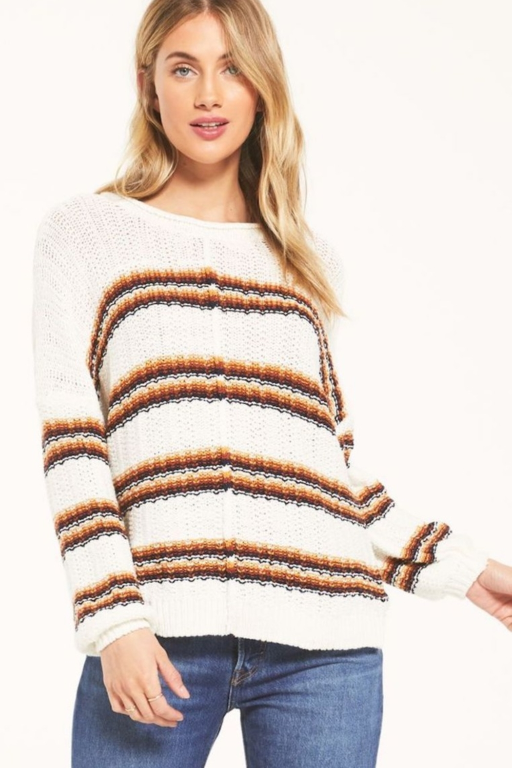 White Crow  Capitan Roll-Knit Sweater - Front Cropped Image