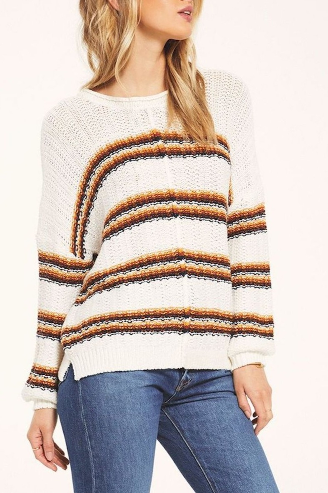 White Crow  Capitan Roll-Knit Sweater - Back Cropped Image