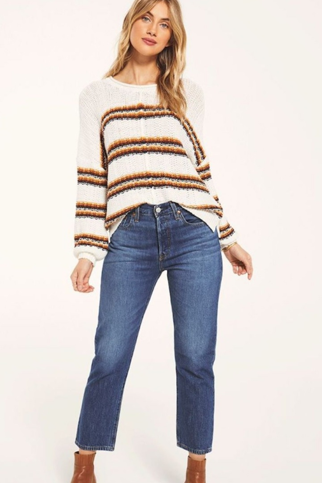White Crow  Capitan Roll-Knit Sweater - Side Cropped Image