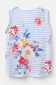 Joules Capped Sleeve Top - Back cropped