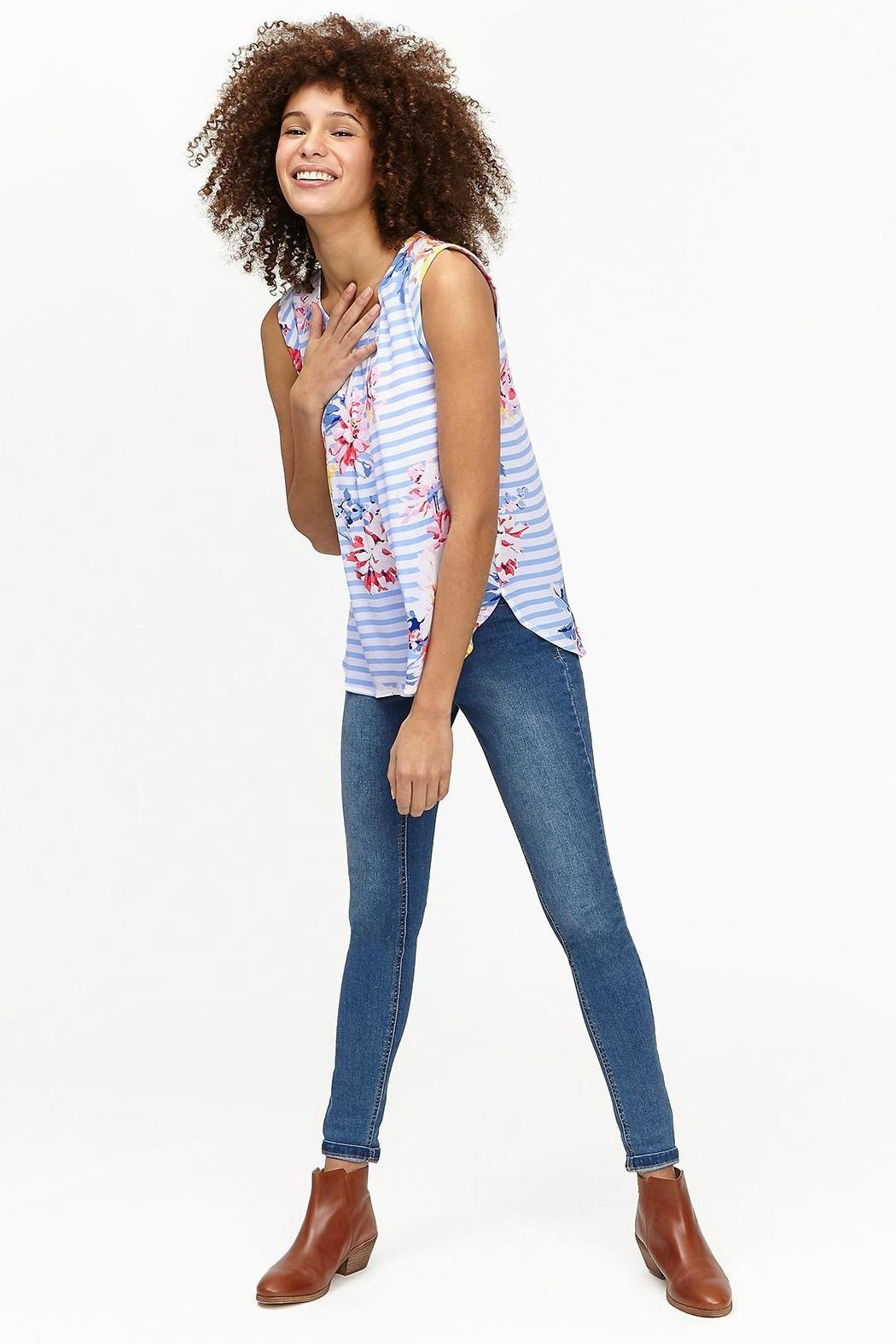 Joules Capped Sleeve Top - Main Image