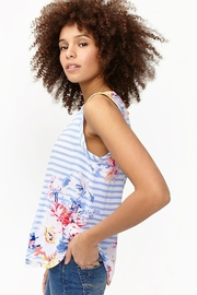 Joules Capped Sleeve Top - Front full body