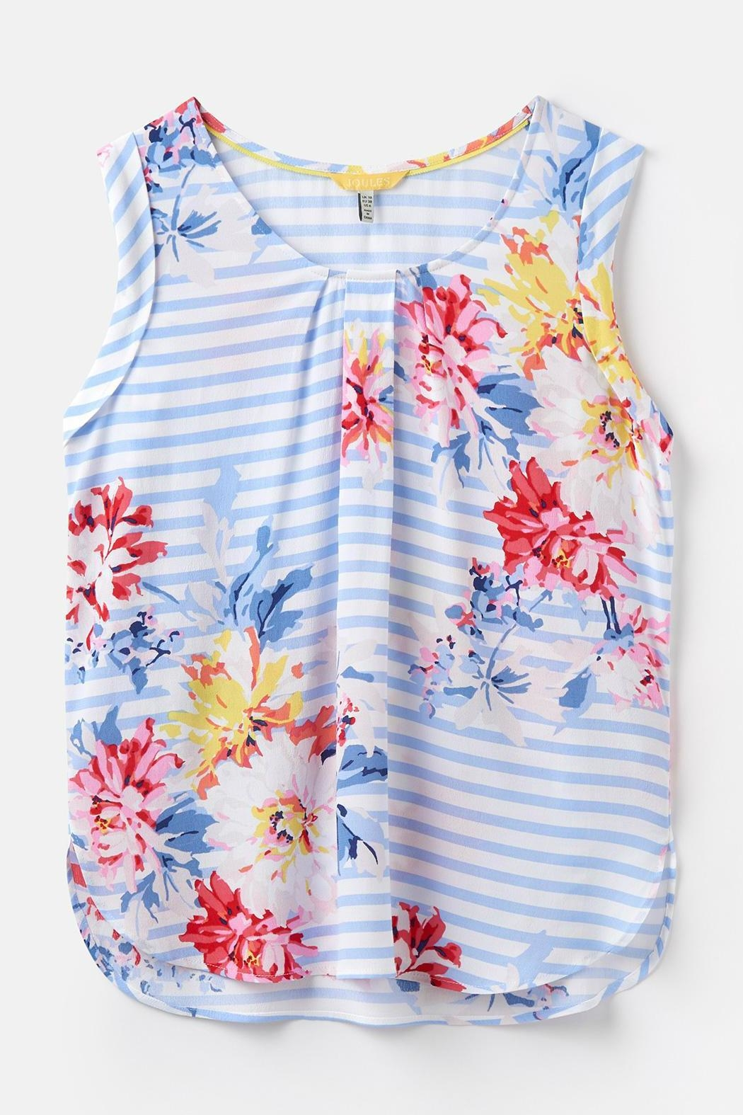 Joules Capped Sleeve Top - Side Cropped Image