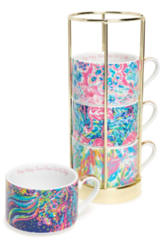 Lilly Pulitzer  Cappuccino 8 oz Mug (Set of 4) - Product Mini Image