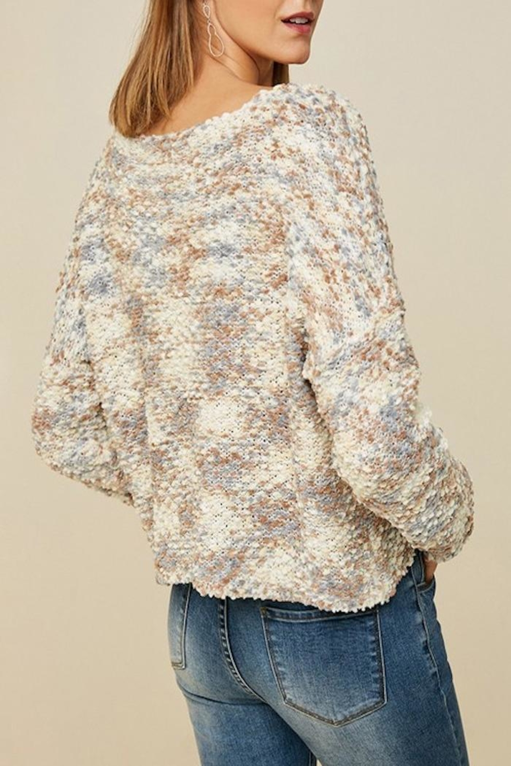 Apricot Lane Cappuccino Sweater - Side Cropped Image