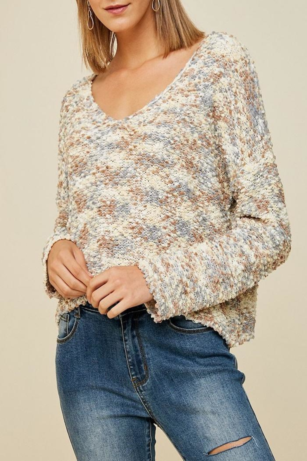 Apricot Lane Cappuccino Sweater - Front Full Image