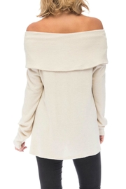 Bobeau Capri Cozy Off-Shoulder - Front full body