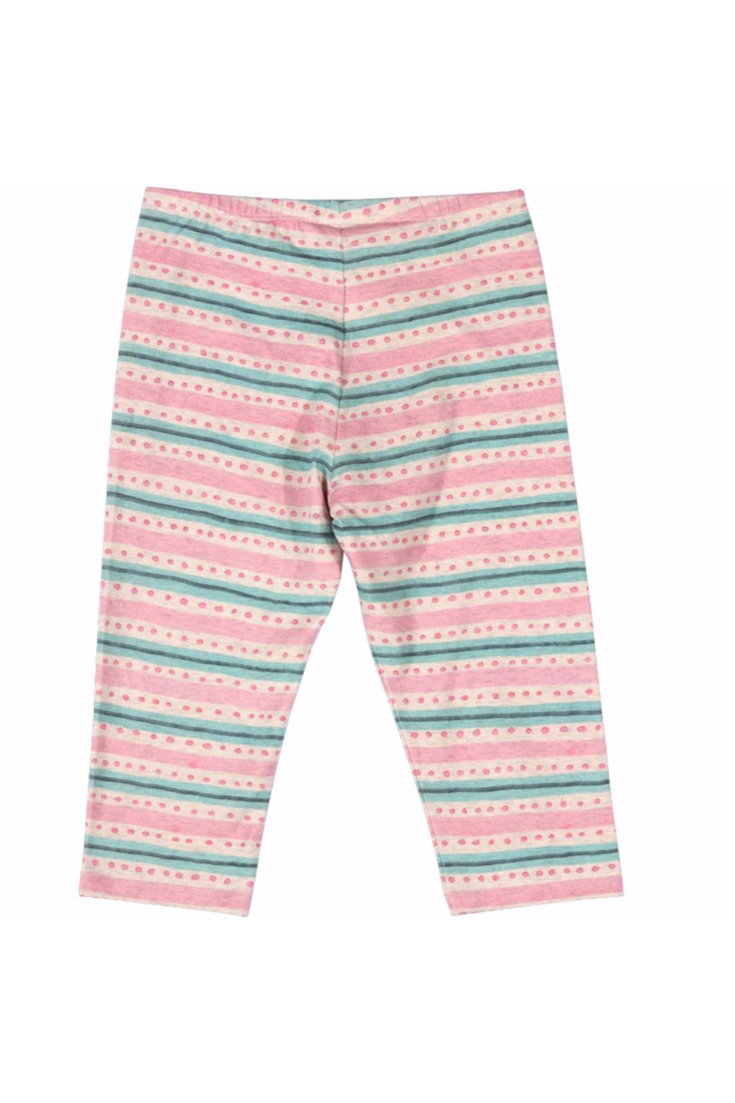 Paper Wings Capri Texta Stripe with Spots Leggings - Front Full Image