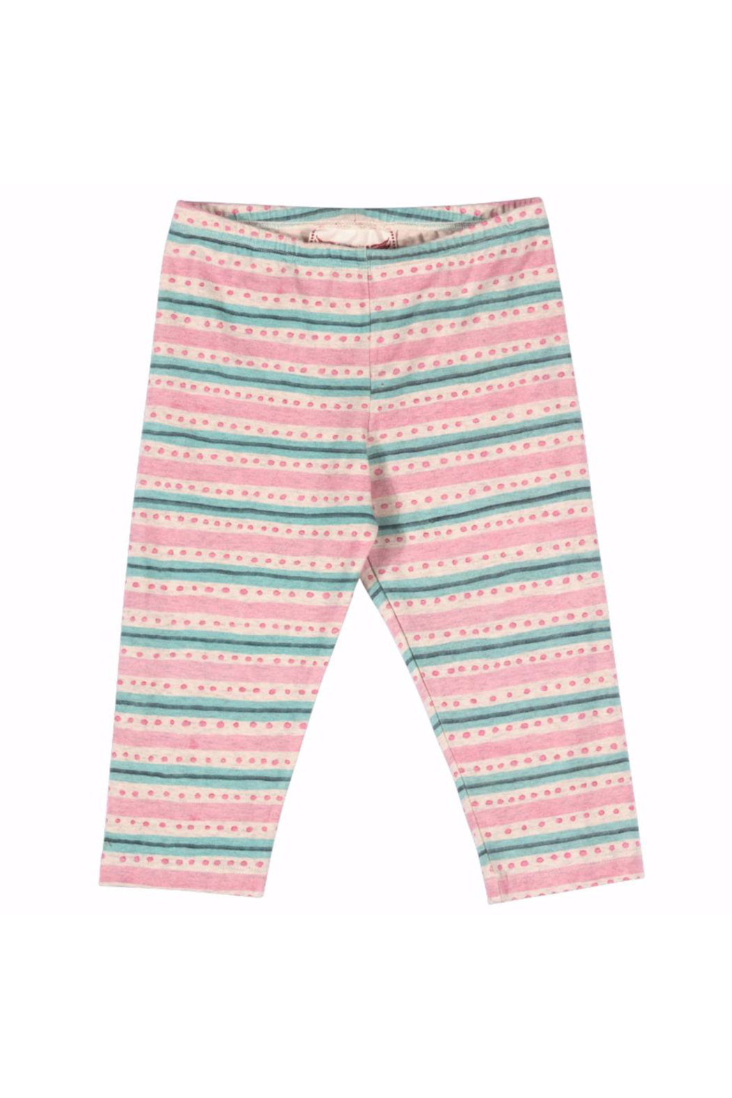 Paper Wings Capri Texta Stripe with Spots Leggings - Main Image