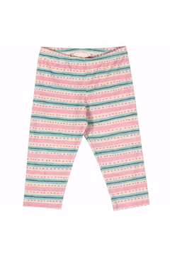 Shoptiques Product: Capri Texta Stripe with Spots Leggings