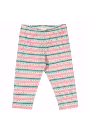Paper Wings Capri Texta Stripe with Spots Leggings - Front cropped