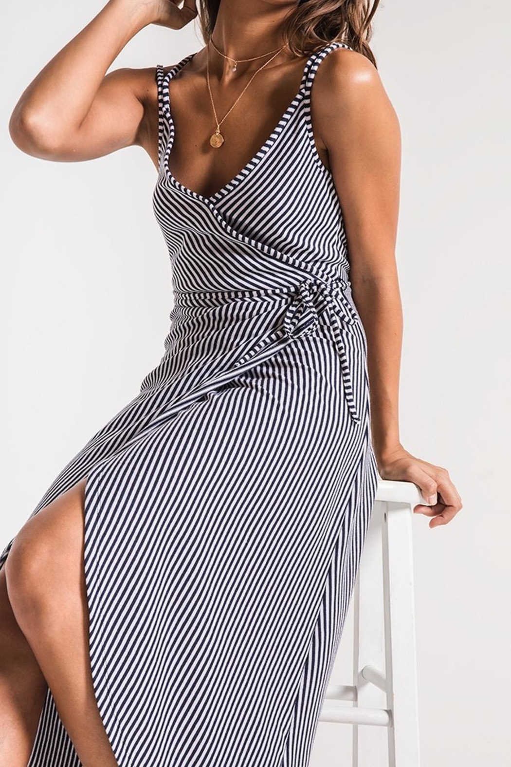 Zsupply Capri Wrap Dress - Side Cropped Image