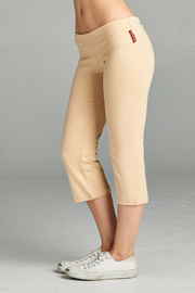 Active USA Capri yoga pants with flare bottom - Front cropped