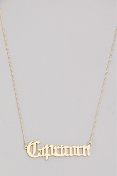 R+D Hipster Emporium  Capricorn Necklace - Alternate List Image