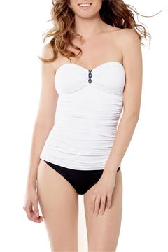 Shoptiques Product: Shirred Bandeau Tankini
