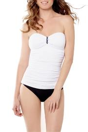 Captiva by Christina Shirred Bandeau Tankini - Product Mini Image