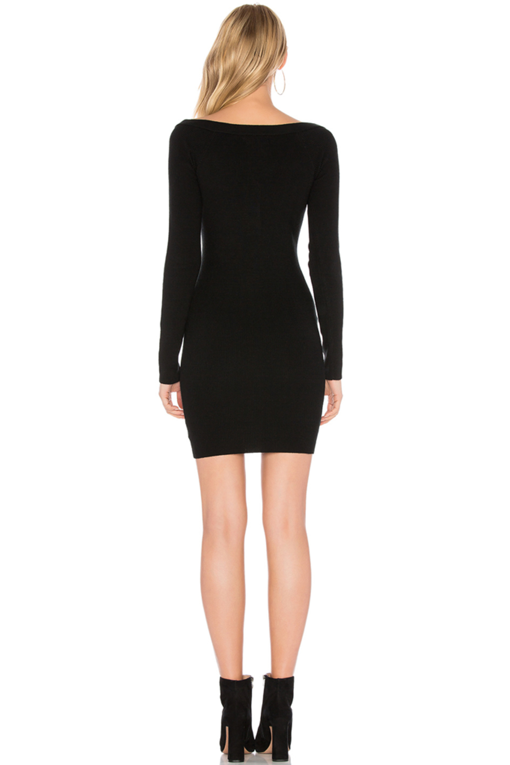 Capulet Button Down Sweater Dress - Back Cropped Image