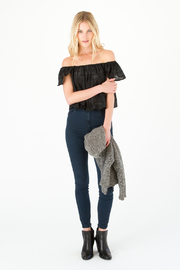 Capulet Shoulderless Scallop Top - Product Mini Image