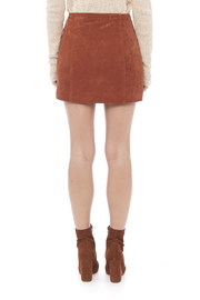 Capulet Suede Mini Skirt - Back cropped