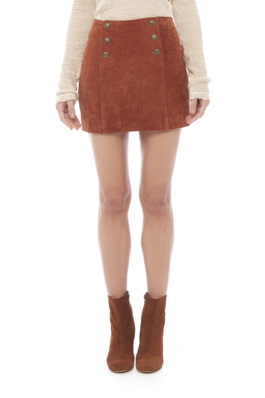 Capulet Suede Mini Skirt - Side Cropped Image