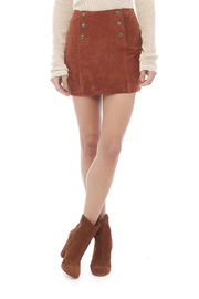 Capulet Suede Mini Skirt - Front cropped