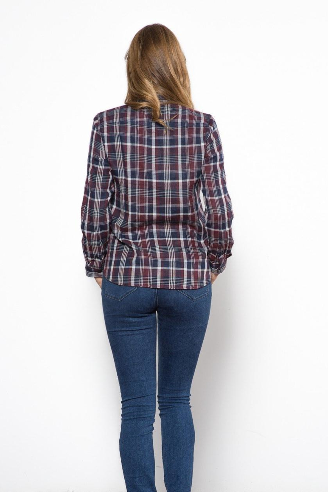 Capulet The Kaia Buttondown Top - Back Cropped Image