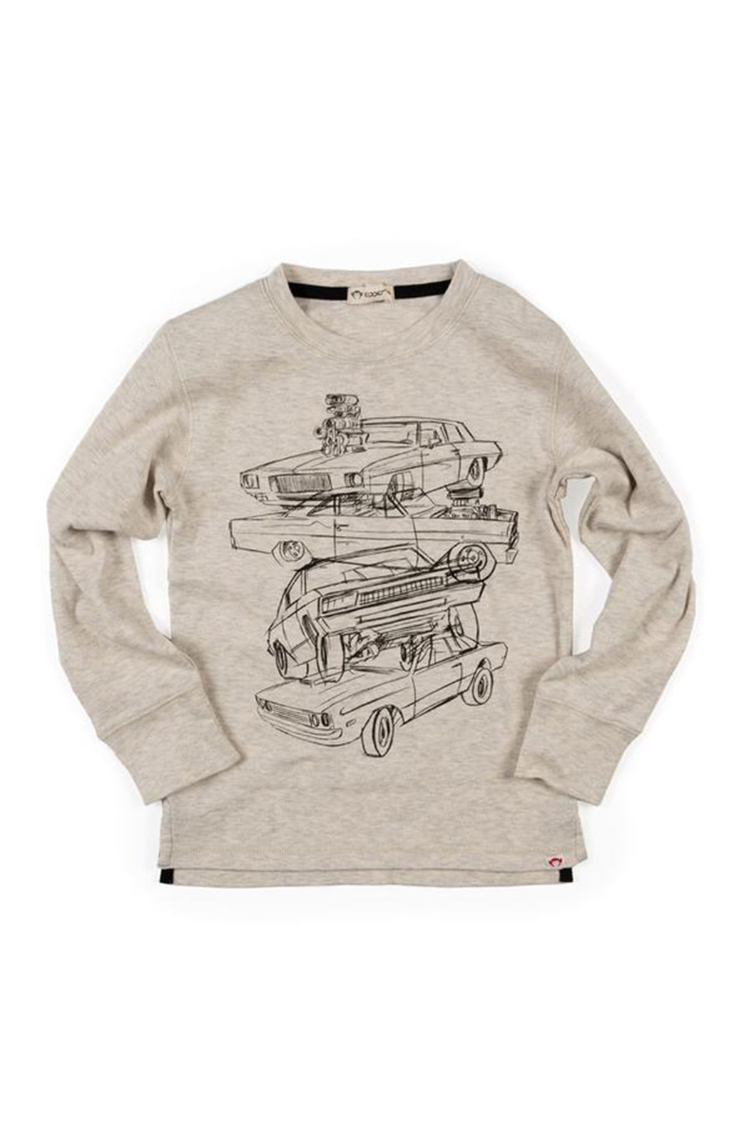 Appaman Car Stack Graphic Long Sleeve Tee - Main Image
