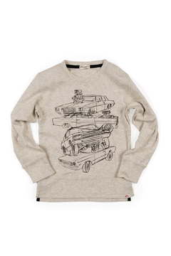 Appaman Car Stack Graphic Long Sleeve Tee - Product List Image