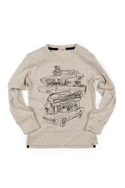 Appaman Car Stack Graphic Long Sleeve Tee - Front cropped