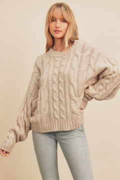 Dress Forum  Cara Cable Knit Sweater - Product List Image