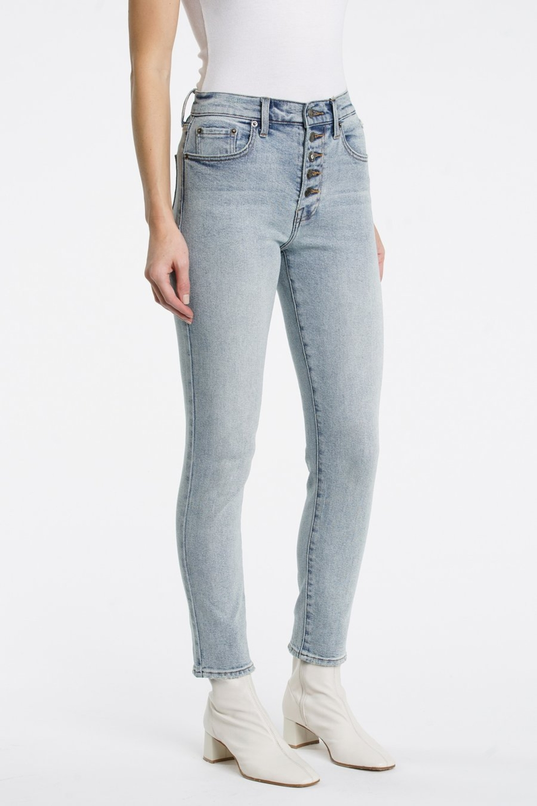 Pistola Cara Straight Leg Jeans in Jolie - Side Cropped Image