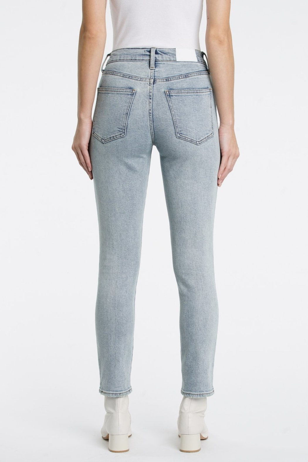 Pistola Cara Straight Leg Jeans in Jolie - Back Cropped Image