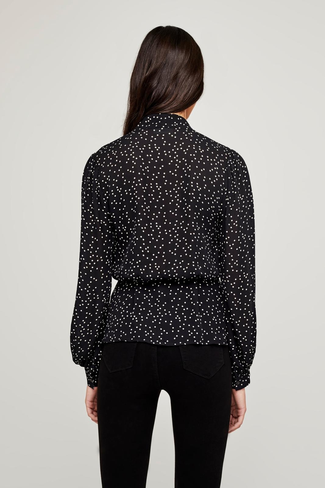 L'Agence Cara Wrap Blouse - Side Cropped Image