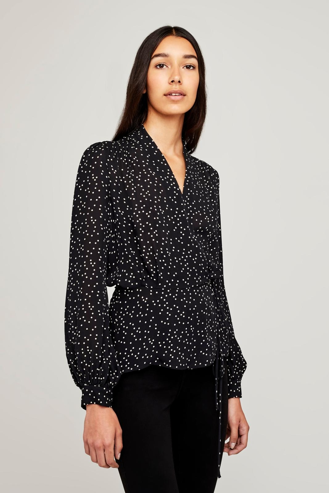 L'Agence Cara Wrap Blouse - Front Full Image