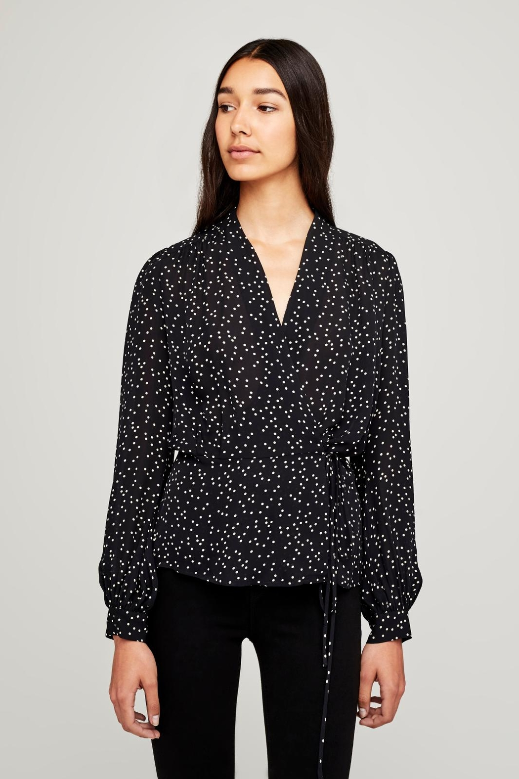 L'Agence Cara Wrap Blouse - Front Cropped Image