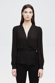 L'Agence Cara Wrap Blouse - Front cropped