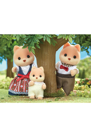 Calico Critters Caramel Dog Family - Front full body