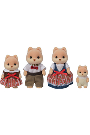 Calico Critters Caramel Dog Family - Front cropped