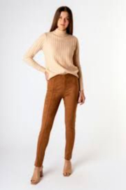 Tractr Fashionista Vegan Suede Pencil Leggings - Product Mini Image
