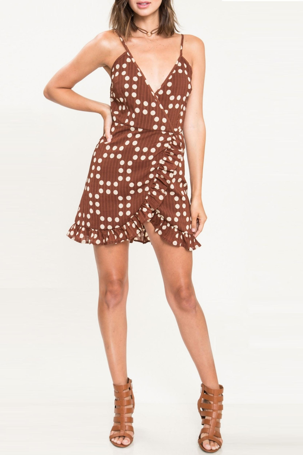 Bonded Caramel Field Dress - Front Cropped Image
