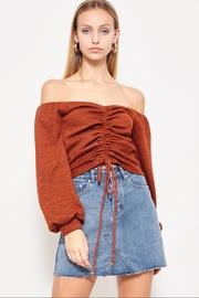 etophe studios Caramel Off-Shoulder Top - Product Mini Image