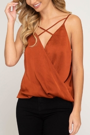 She + Sky Caramel Strappy Cami - Product Mini Image