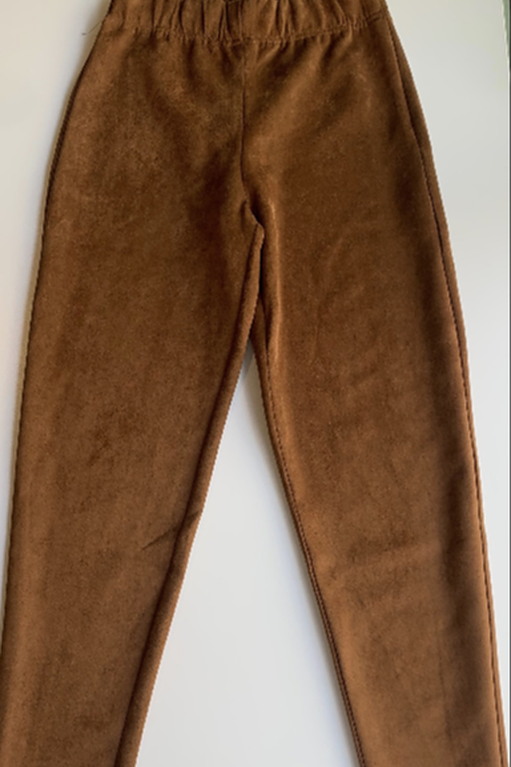Emory Park Caramel Suede Pull on Pants - Side Cropped Image
