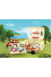 Calico Critters Caravan Family Camper - Side cropped