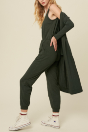 Listicle Cardigan Jumpsuit Set - Side cropped