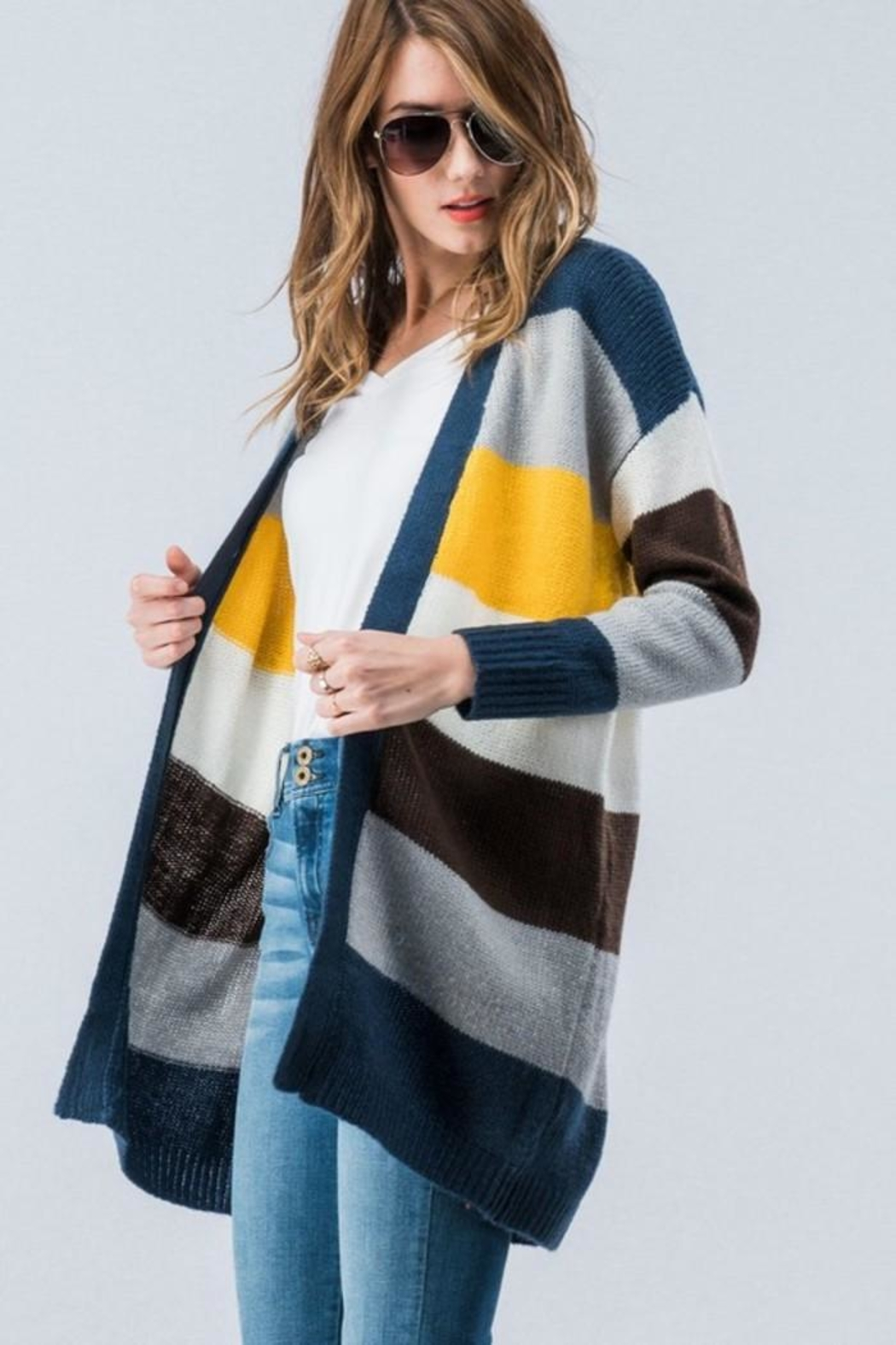 Trend:notes Cardigan Multi - Front Full Image